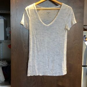 Heather grey v neck T-shirt size XS